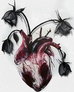 Image result for flowers and a human heart
