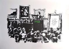 BANKSY - MORONS B/W - KUNZT.GALLERY http://www.widewalls.ch/artwork/banksy/morons-bw/