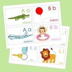 Printable ABC Animal Flash Cards