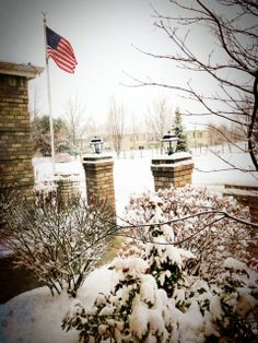 Snowy day at Liberty Lake City Hall