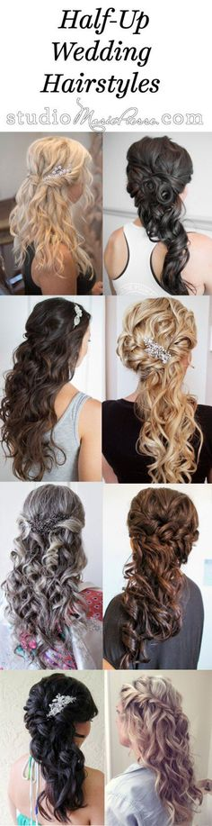 Trendy wedding hairstyles updo curly up dos half up half down Ideas Half Up Wedding Hair, Wedding Hairstyles Half Up Half Down, Wedding Hair And Makeup, Bridal Hair, Party Hairstyles, Formal Hairstyles, Cool Hairstyles, Beautiful Hairstyles, Braid Hairstyles