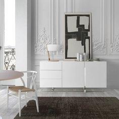 Mueble lacado a la carta de Angel Cerdá: aparador blanco