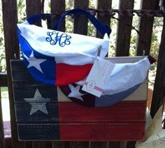 Texas Flag Fanny pack! Need I say more? These fun little fanny packs are great for toting around your essentials when you just dont feel like