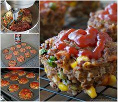 Vegetable Meatloaf Muffins