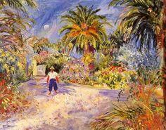 Jardin de la villa de Georges Grammont à Saint-Tropez - Charles Camoin