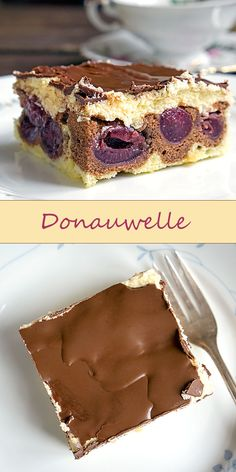 Donauwelle: Mit Kirschen, Buttercreme & Schoko-Guss   Madame Cuisine Rezept
