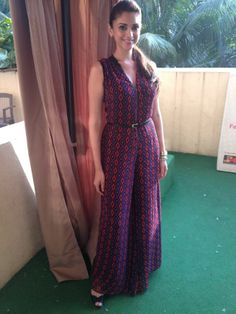 Aditi Rao Hydari in Label by Ritu Kumar Frock Fashion, Indian Fashion Dresses, Dress Indian Style, Indian Designer Outfits, Indian Outfits, Designer Dresses, Designer Clothing, Women's Clothing, Women's Fashion