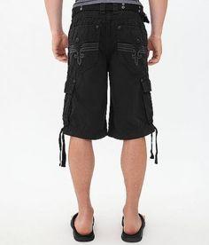 1f46860296 ROCK REVIVAL JEANS SALE Buckle Cheap Sale Mid Rise Black Classic Cargo  Shorts 42 #RockRevival
