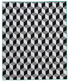 Black and white tumbling blocks quilt, in: Stripe Quilts Made Modern by Lauren S. Palmer