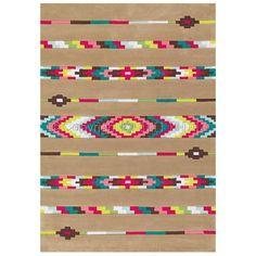 Nouveauté. Tapis tendance NEO HIPPIE Arte Espina. Un look ethnique avec des touches de couleurs. Tufté main. 140x200cm.