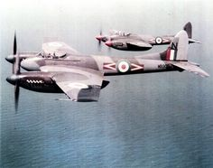 de Havilland DH.103 Hornet F3s out of Hong Kong and over the South China Sea in the 1950s