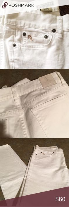 Ralph Lauren white skinny jeans LOVE. Excellent condition. Super comfy Ralph Lauren Jeans Skinny