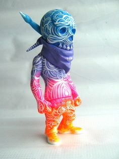 "SpankyStokes.com | Vinyl Toys, Art, Culture, & Everything Inbetween: Frank Mysterio's ""Tattoo Zombie"" & ""Ayahuasca Trip"" Rebel Ink customs!"