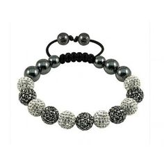 Unique Crystal Beaded Shambala Bracelet Bangles #Fashion #Bracelets