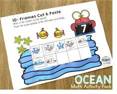 Are you looking for a cut and paste Ocean Animals Math Activities for preschoolers? This NO-PREP Ocean Animals counting pack is perfect for you. Various activities in one pack, you won't have to worry about lesson planning your Ocean Animals week anymore! Ocean Activities, Summer Activities For Kids, Math For Kids, Preschool Activities, Subtraction Activities, Math Worksheets, Math Games, Learning Numbers Preschool, Preschool Themes