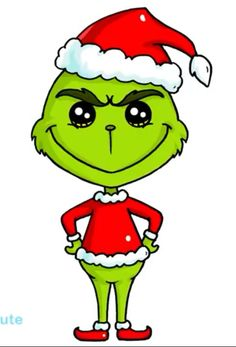 How to Draw The Grinch Easy Kawaii Girl Drawings, Cute Drawings, Cool Sketches, Drawing Sketches, Christmas Rock, Christmas Crafts, Grinch Drawing, Simple Cartoon, Drawing Letters