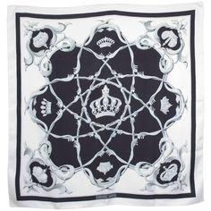 Rare Hermes Silk Scarf Crowns Couronnes 1960
