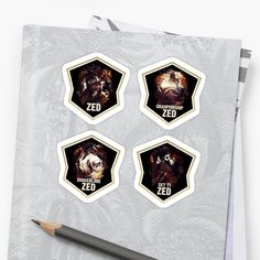 League of Legends ZED [4 in 1 STICKER set] by Naumovski    Feel free to check out more artwork on    https://displate.com/Naumovski/  https://www.redbubble.com/people/naumovski  https://www.teepublic.com/user/naumovski  https://www.sunfrog.com/Naumovski/  https://society6.com/naumovski  https://naumovski.threadless.com/