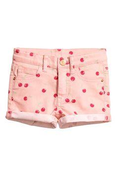 Culotte courte en tissu croisé - Rose/cerise - ENFANT | H&M CA kawaii~♡~ @chiichannn