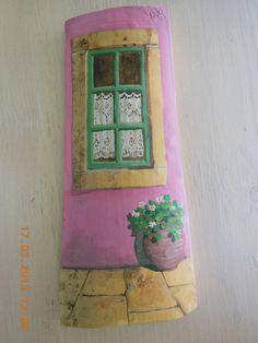 sandylandya@outlook.es Hand painted cut Greek roof tiles by Kymacreative on Etsy,