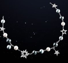 Channel-comete-web-mar 2013,18k white gold diamond and pearl necklace