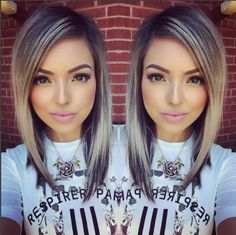 Medium haircuts look perfect with fine hair because they are easier to arrange with volume and body and are very flexible. Medium-length hairstyles for fine hair have many types of variations that … Cute Medium Length Haircuts, Medium Hair Cuts, Medium Hair Styles, Short Hair Styles, Mode Turban, Bob Hairstyles For Fine Hair, Ombre Hair, Look Fashion, Hair Trends