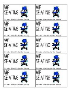 PBIS Coupons for Individual Students ...what about VIP seating at an assembly? -Jess