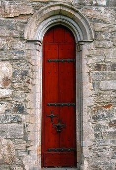 Long, Narrow, Red Door