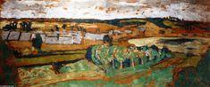 Paysage à Saint-Jacut, peinture de Edouard Vuillard (1868-1940, France)