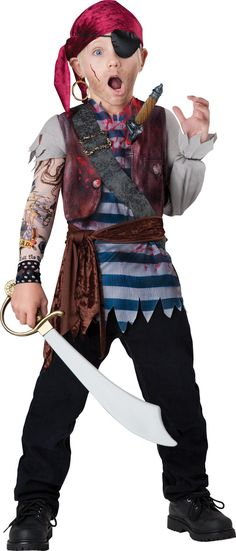 Creep around Halloween in a pirate costume with a dagger through your cold heart!