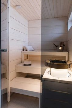 kuva Sauna House, Sauna Room, Modern Saunas, Sauna Design, Steam Spa, Spa Rooms, Bathroom Spa, Home Spa, Classic Furniture