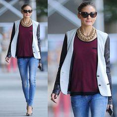 Effortless chic #oliviapalermo #effortlesschic #streetchic #looks #look #blazer #fashion #moda #style #olivia