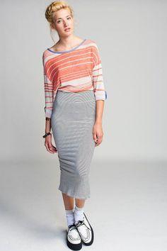 #Koshka                   #Skirt                    #Otis #Maclain #Calf #Stripe #Skirt                 Otis & Maclain Mid Calf Stripe Skirt                                          http://www.seapai.com/product.aspx?PID=1129411