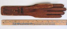 Antique Wooden Left Hand Miss L Ladies S Wood Glove Form Vintage Store Display  sold  60.00