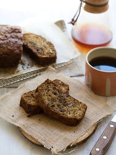 Burnt Banana Rum Bread with Pecans and Dark Chocolate by A Cozy Kitchen
