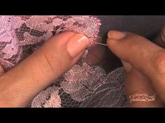 Sewing Techniques Couture How to make a lace applique by using an overcast stitch - Diy Sewing Projects, Sewing Tutorials, Sewing Crafts, Sewing Patterns, Sewing Tips, Tutorial Sewing, Lace Patterns, Sewing Ideas, Sewing Lace