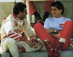Michele Alboreto (Arrows-Ford). Ayrton Senna (McLaren-Honda). 1990.
