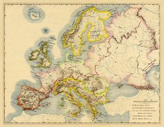 Europe vintage map  Antique Europe map PRINT  25 by AncientShades, $48.00