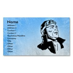 Blue Pilot Business Card Template. This is a fully customizable business card and available on several paper types for your needs. You can upload your own image or use the image as is. Just click this template to get started!