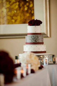 What a beautiful shot by Brian Pepper & Associates | Photography & Video of this three-tiered buttercream wedding cake we created.