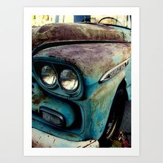 Beauty with Age Art Print by RichCaspian - $16.00  #photography #auto #vehicle #vintage #classic #old #automobile #society6