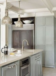 benjamin moore sea foam | kitchen...love the colors in this kitchen! Benjamin Moore Sea Foam??