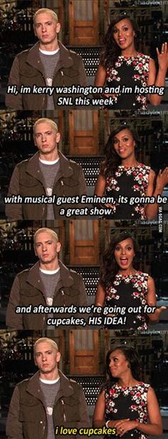 Eminem shares his excitement with us all! LOL