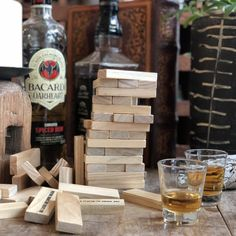 Play it like jenga, the Drink Tower wood block drinking game comes with 4 shot glasses and 60 stacking wooden blocks. You must be to purchase. By checking out with this item in your order, you agree that you are of age to purchase this product. Jenga Drinking Game, Tower Games, Wooden Blocks, Drinks, Wood Blocks, Drinking, Beverages, Drink, Beverage