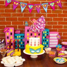 Barbie princess power party. Superhero