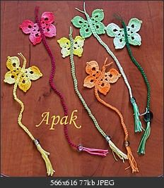 crochet butterfly bookmarks directions. I would make these into binky holders