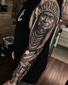 70 native american tattoo designs native american tatttoos т Indian Chief Tattoo, Indian Headdress Tattoo, Native Indian Tattoos, Tribal Tattoos Native American, American Indian Tattoos, Elbow Tattoos, Skull Tattoos, Body Art Tattoos, Weird Tattoos