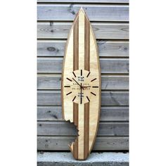 Personalised shark bite Plywood time & tide clock.