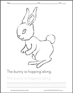 The Bunny Is Hopping Along