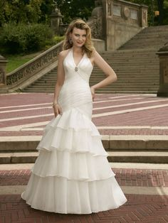 6702 Organza With Beaded Brooch Wedding Dress – Mori Lee Voyage 2011 Collection